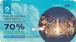 Top Up Diamond Mobile Legends Pakai Gopay Banyak Cashbacknya