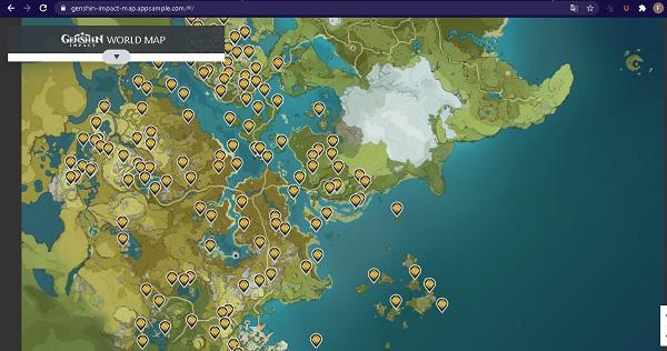 Ini Detail Map Genshin Impact Buar Makin Mudah Menjelajah