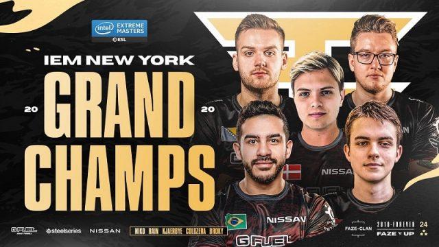Faze Clan Juarai IEM New York