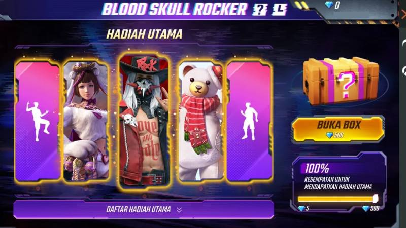 Bundle Blood Skull Rocker