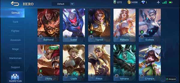 cara kirim hero mobile legends ke teman tanpa diamond